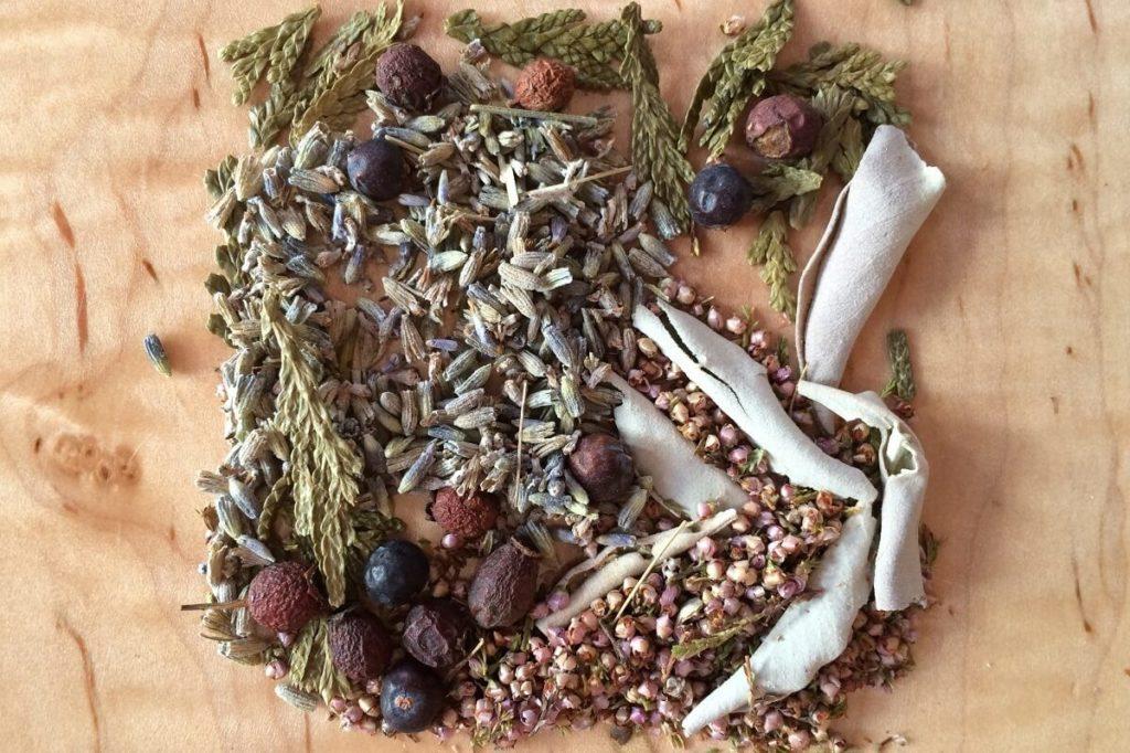 Сухие плоды и травы