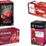 Гранатовый чай разных торговых марок