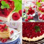 Напитки и десерты из малины