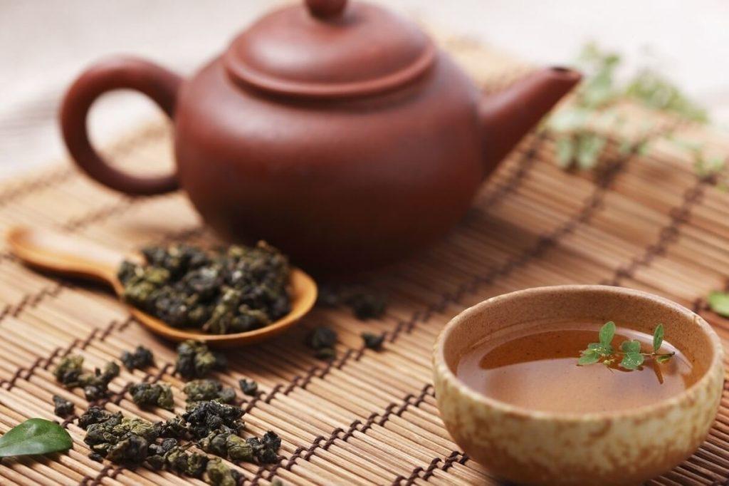 Заваренный чай улун