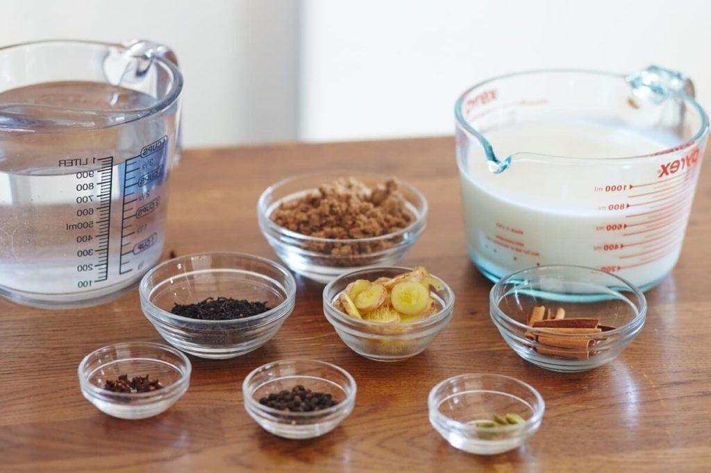 Ингредиенты для чая масала