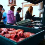 Морской окунь на рынке