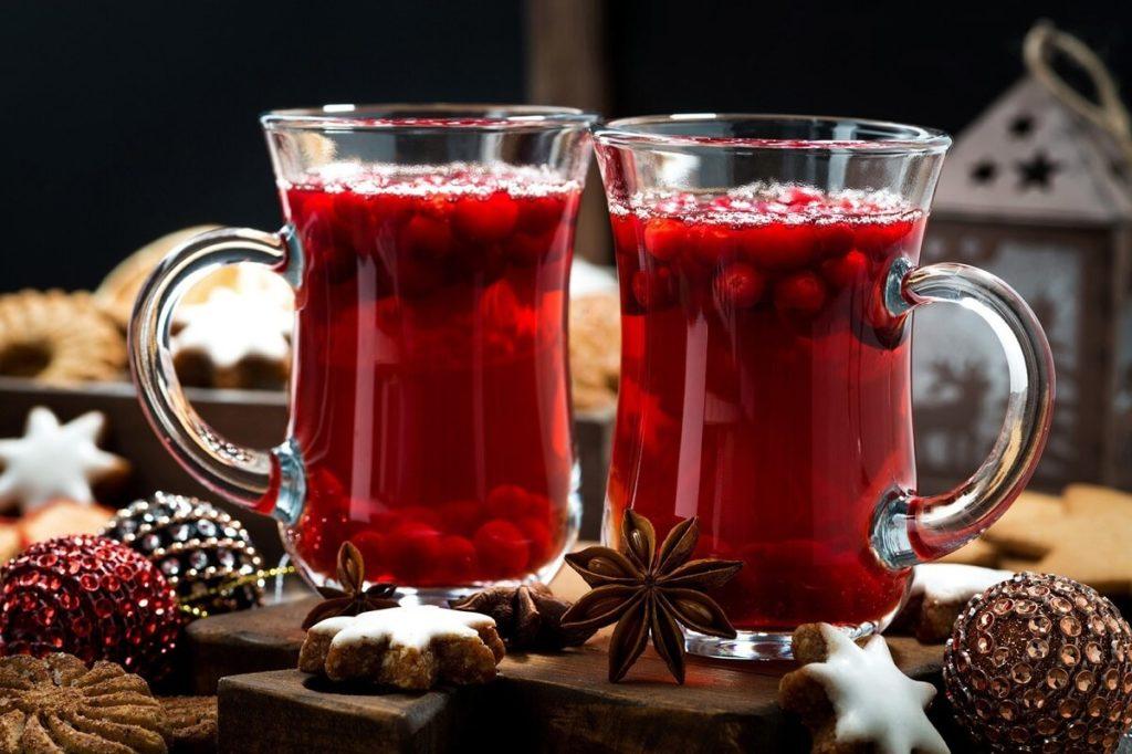 Облепиховый чай с клюквой