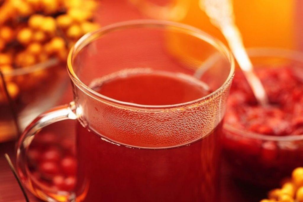 Облепиховый чай с малиной