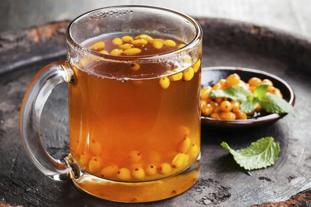 Облепиховый чай с мятой