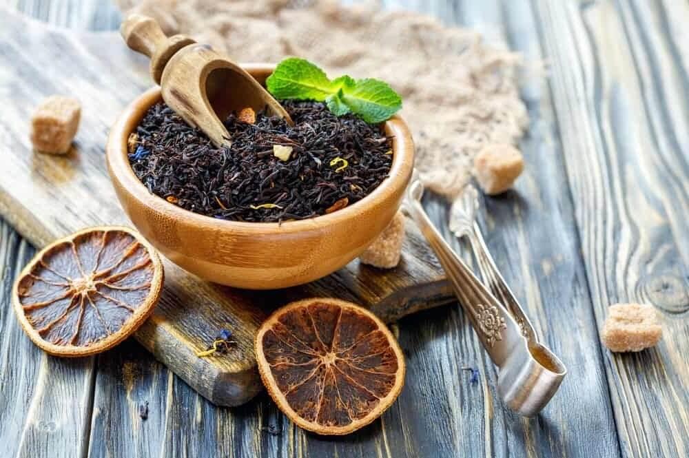 Чай с бергамотом в сухом виде