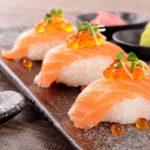 Мясо и икра сёмги для суши