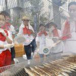Копченая сайра на улицах Японии
