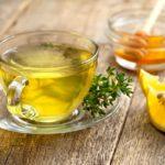 чай с чабрецом (тимьяном), медом и лимоном против простуды