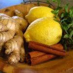 Корица, имбирь, лимон