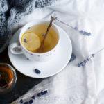 лавандовый чай с лимоном