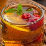 чай с мятой и малиной