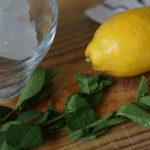 мята, лимон, лед