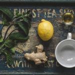 мята, лимон, имбирь