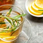 чай с розмарином и лимоном