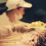 уличная еда, кальмары