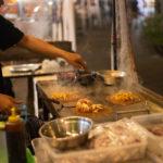 уличная еда кальмар