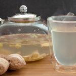 горячий напиток из лемонграсса (лимонника) с имбирем