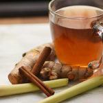 чай с лемонграссом, имбирем и корицей