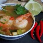 тайский суп Том Ям с лимонником (лемонграссом)