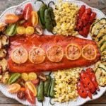 запеченная нерка с овощами