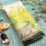 латте с зеленым чаем матча