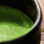пенка зеленого чая матча