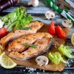 полезная рыба в духовке, стейк