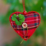 клевер, сердце, удача