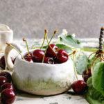 вишни листья и ягоды в кулинарии