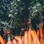 молодая морковка с ботвой