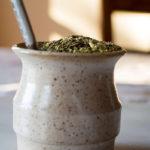 чай мате в керамической калебасе