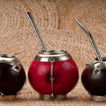 калебасы с бомбильями для чая мате